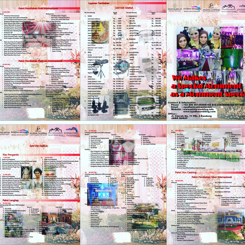 Brosur ayudha wedding di bandung layanan pesta pernikahan brosur ayudha wedding di bandung junglespirit Images